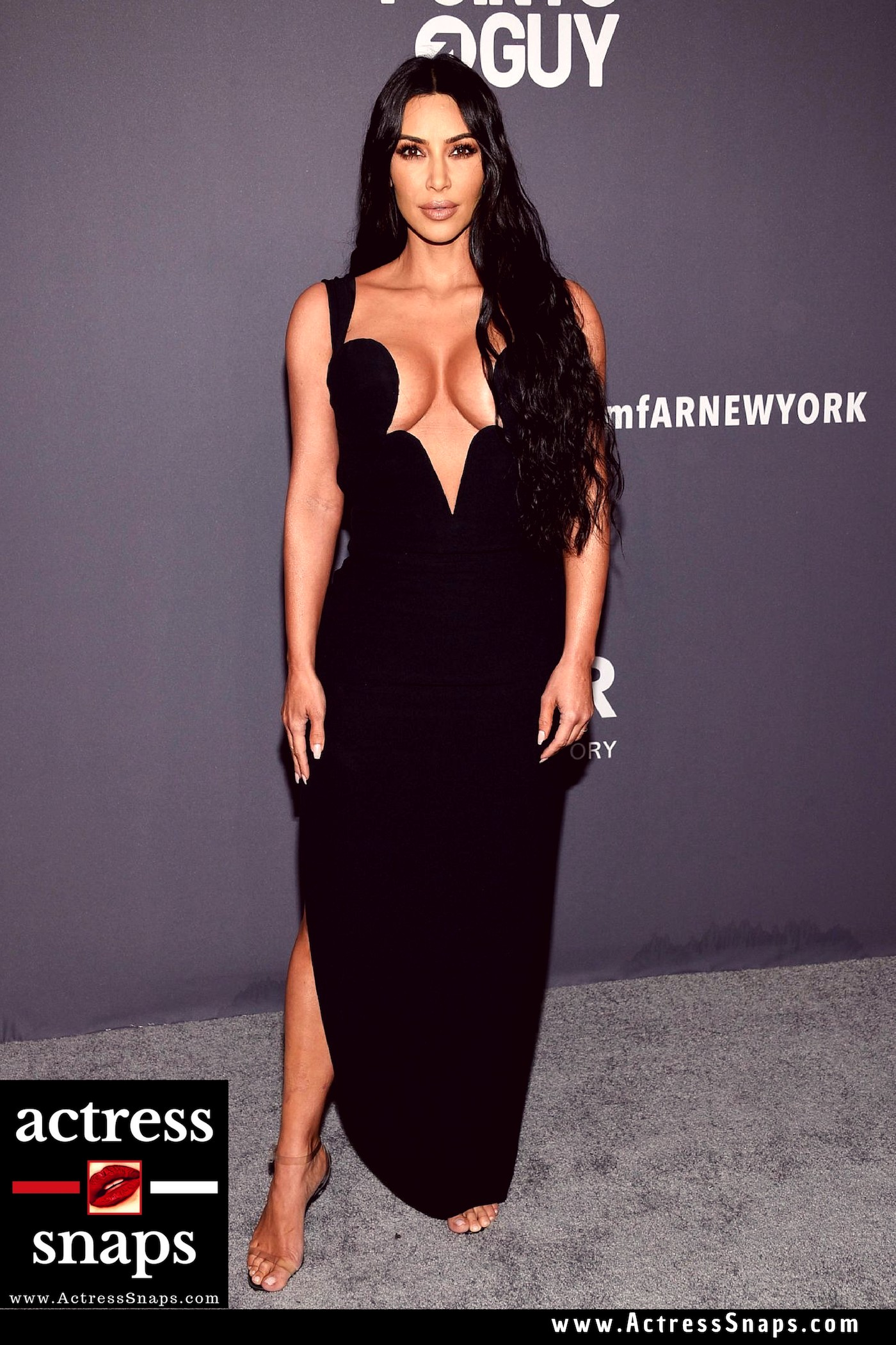 Kim Kardashian at amfAR 2019 Gala - Sexy Actress Pictures | Hot Actress Pictures - ActressSnaps.com