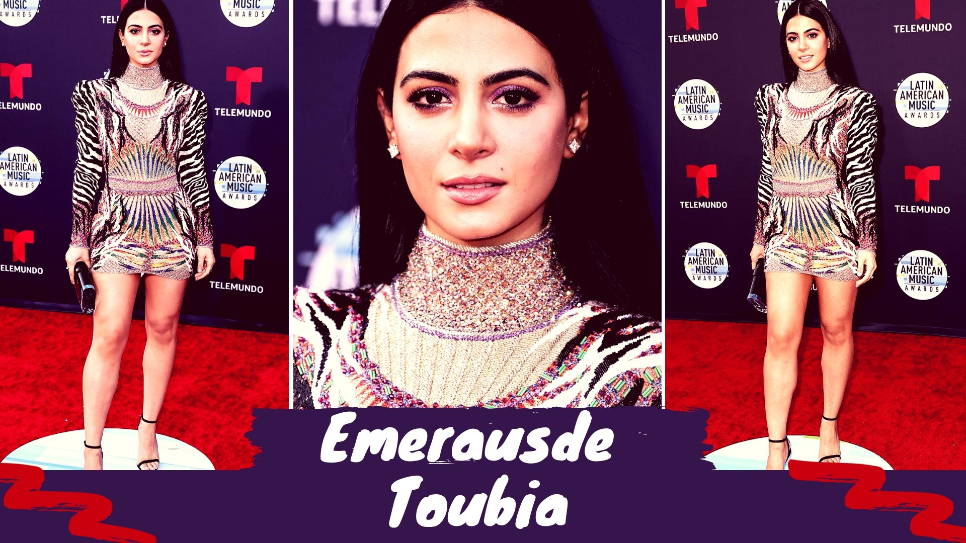Emeraude Toubia at the Latin America Awards 2018 - Sexy Actress Pictures | Hot Actress Pictures - ActressSnaps.com