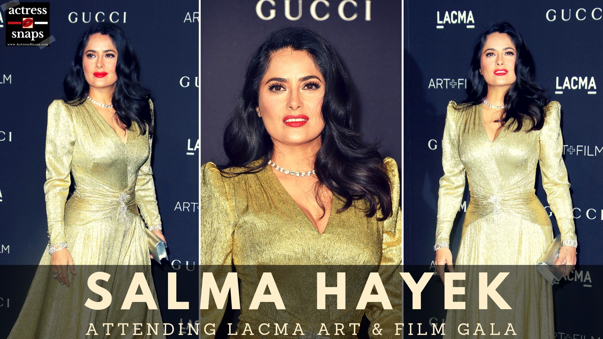 Salma Hayek Pictures from LACMA Event - Sexy Actress Pictures | Hot Actress Pictures - ActressSnaps.com