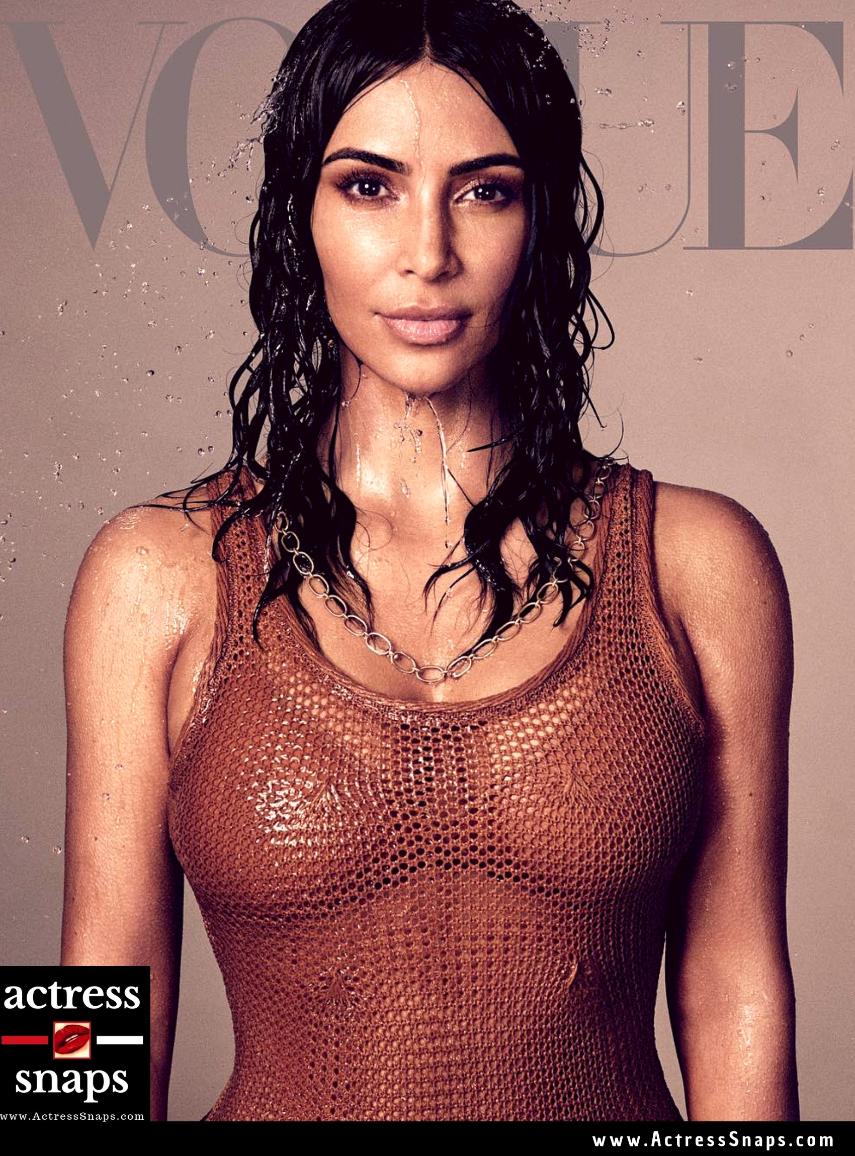 Kim Kardashian in Vogue Magazine - Sexy Actress Pictures | Hot Actress Pictures - ActressSnaps.com
