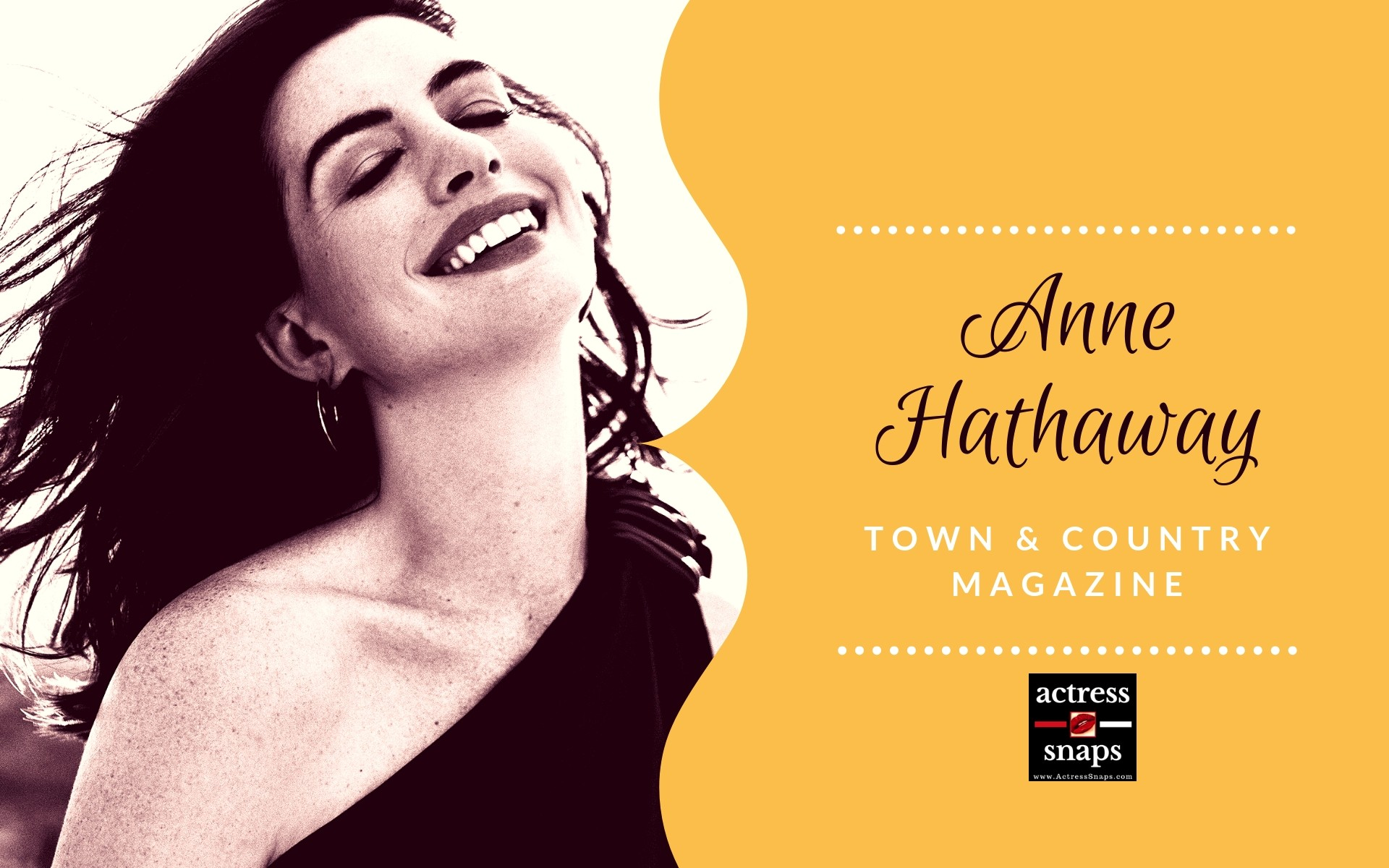 Anne Hathaway - Town & Country Magazine - Sexy Actress Pictures | Hot Actress Pictures - ActressSnaps.com