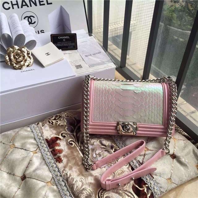 Túi Xách Chanel Boy Da Trăn Siêu Cấp
