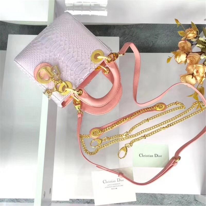 Dior Lady Mini Python