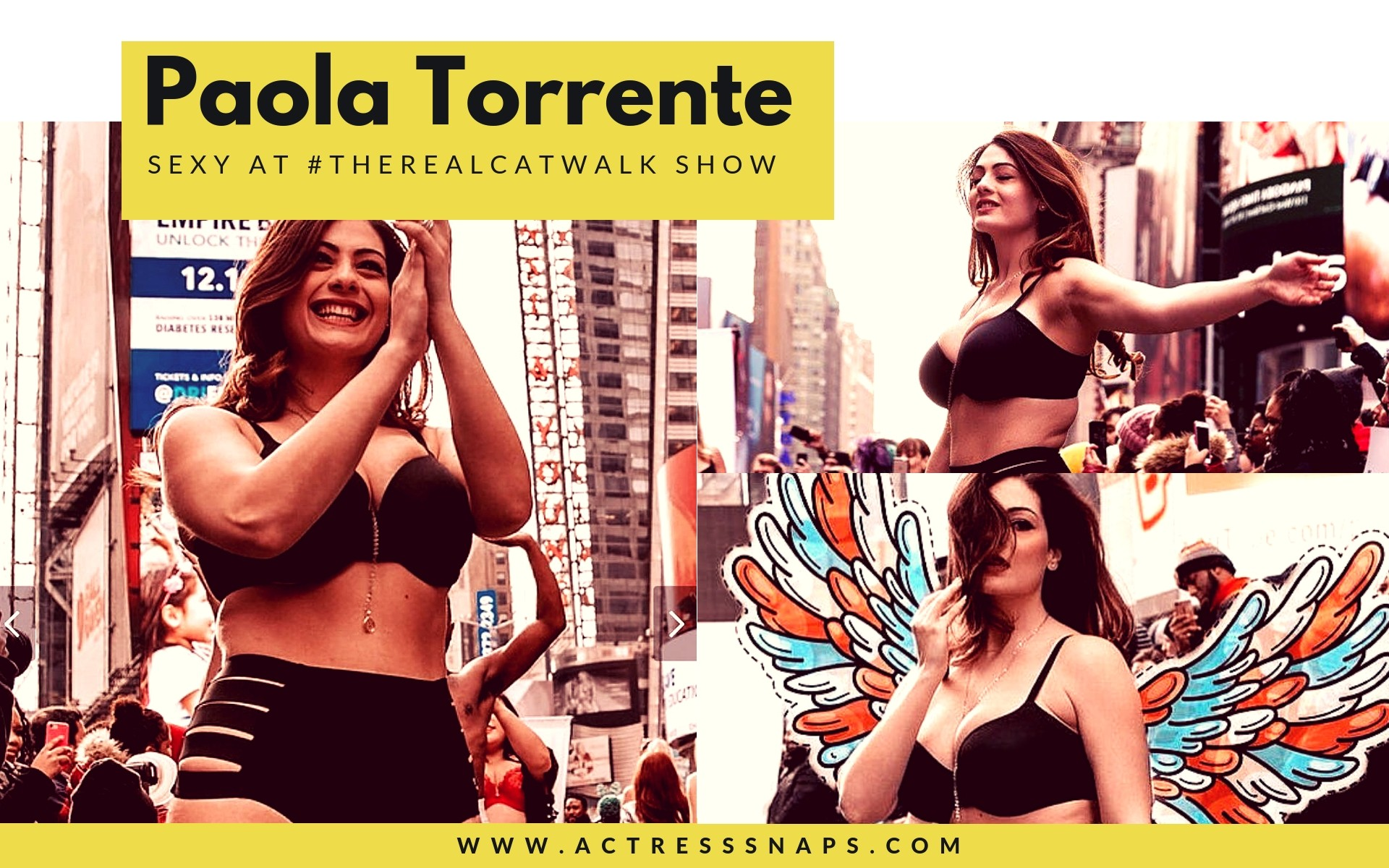 Paola torrente looking absolutely sexy at the show in Times Square