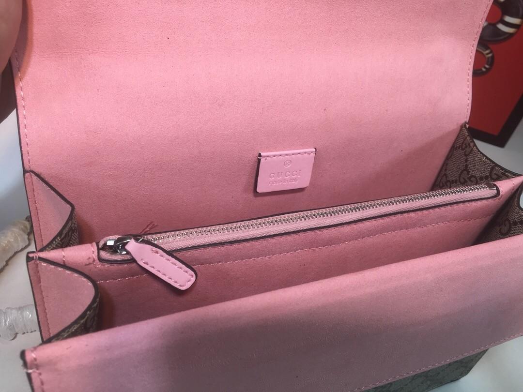 Túi Xách Gucci Dionysus màu hồng có bông hoa size 28cm