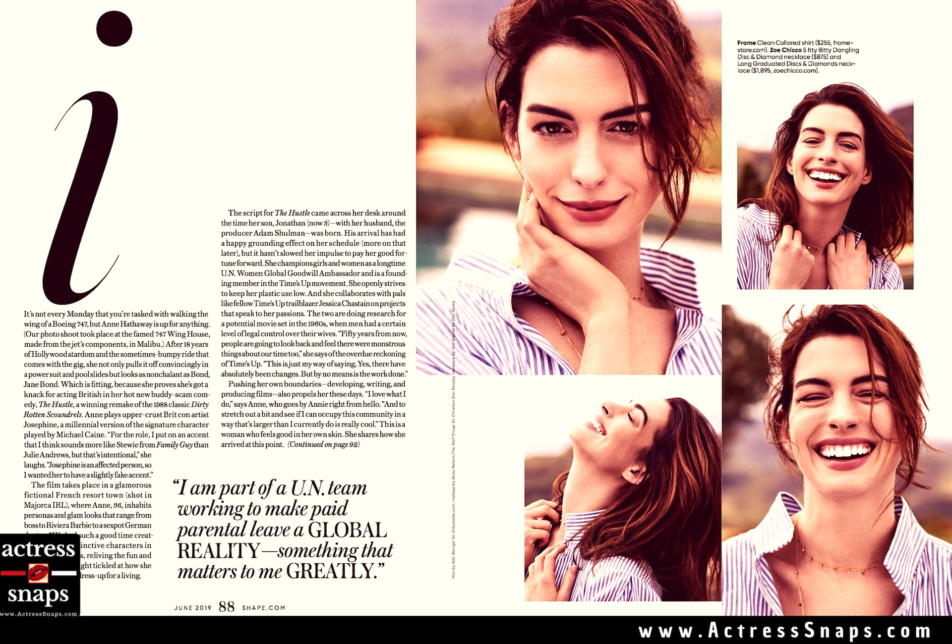 Sexy Anne Hathaway in SHAPE Magazine - Sexy Actress Pictures | Hot Actress Pictures - ActressSnaps.com