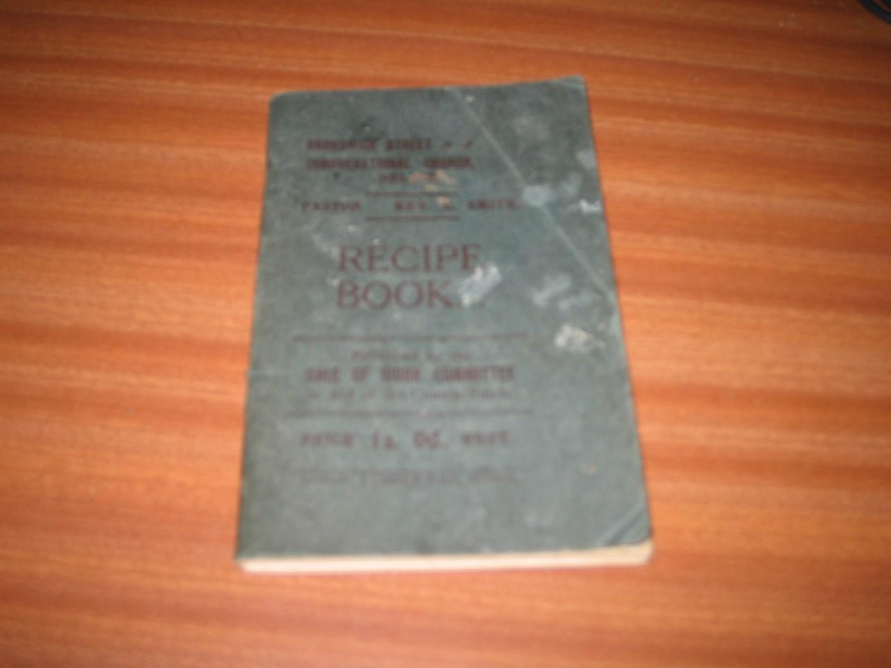 Details About Vintage Recipe Book Ears 1930 Halifax Road Nelson Little Marsden Lancashire