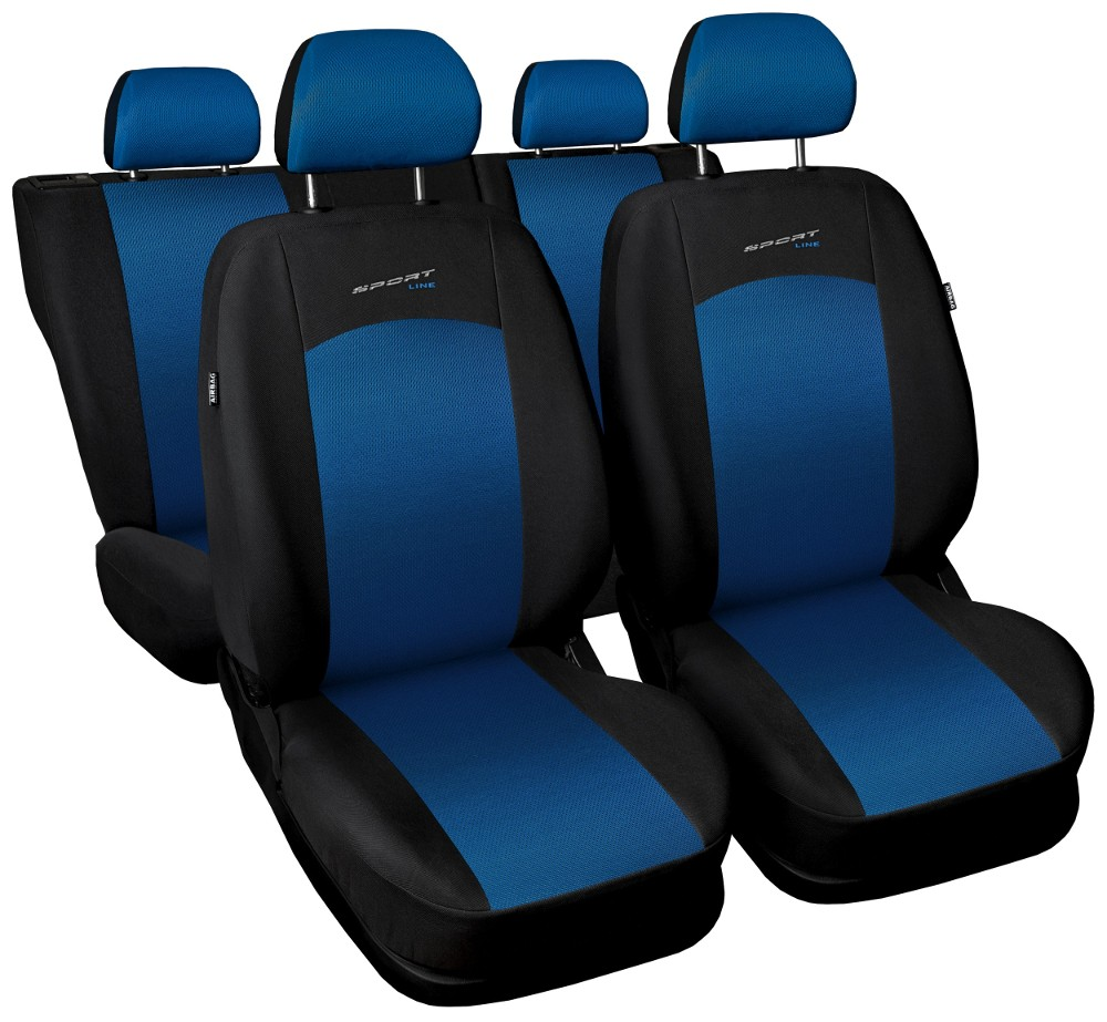 Seat covers fit NISSAN JUKE FULL SET black/blue sport line ...