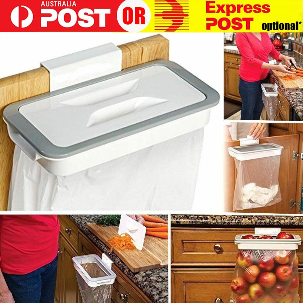 Cupboard Door Back Trash Rack Storage Hanging Holder Kitchen Cabinet Garbage Bag Ebay