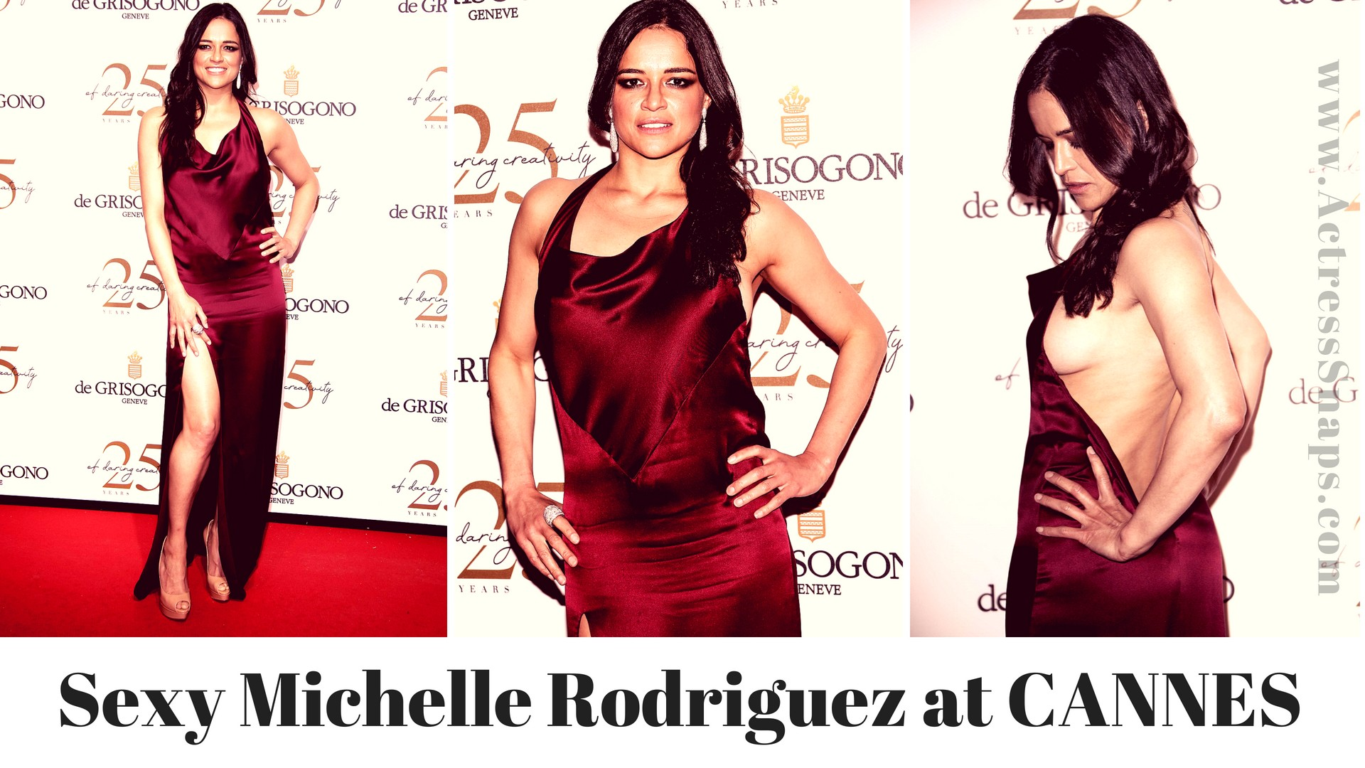 Sexy Michelle Rodriguez attending 'The De Grisogono Party' - Sexy Actress Pictures | Hot Actress Pictures