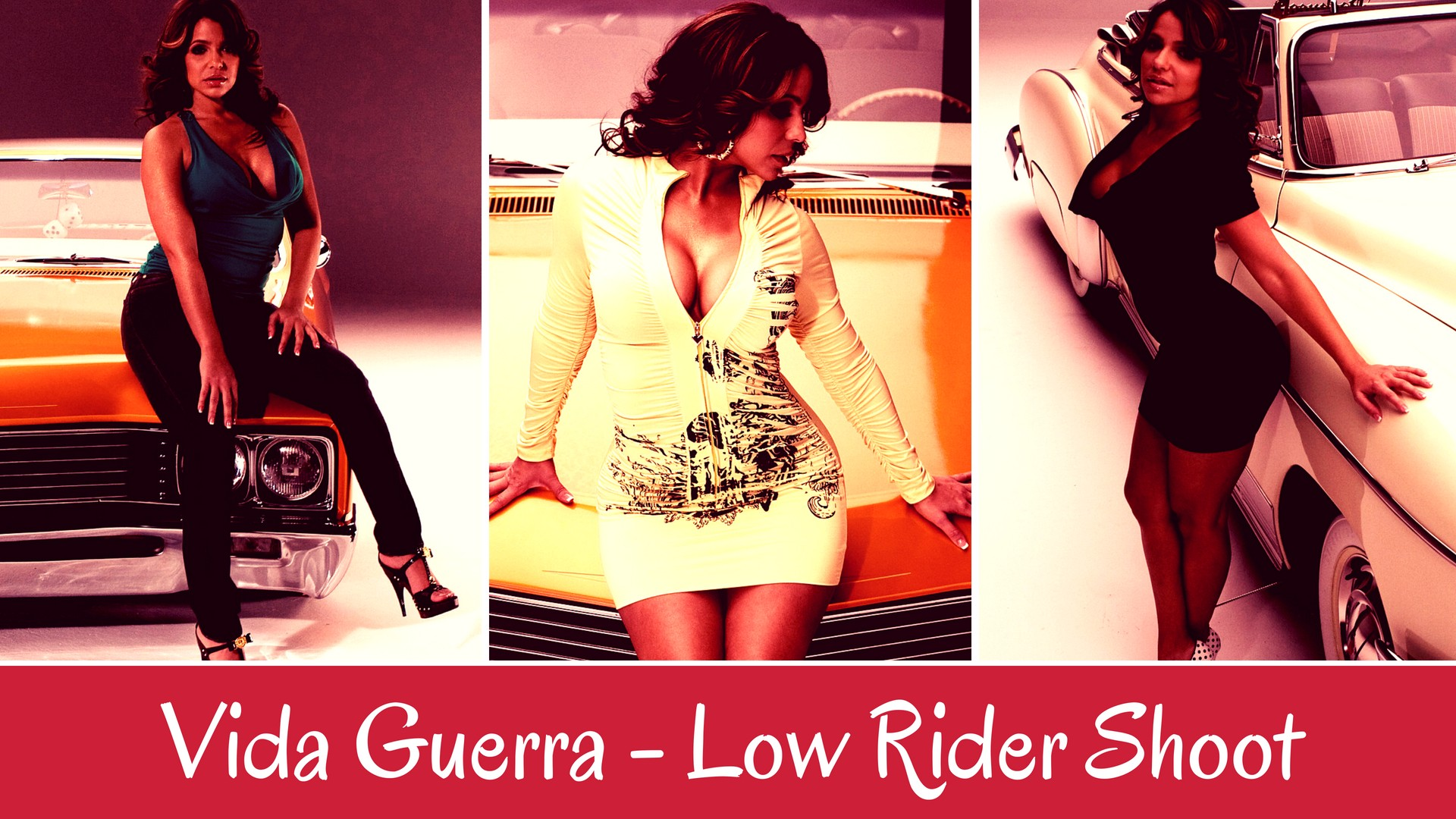 Vida Guerra - Low Rider Photo Shoot - Sexy Actress Pictures | Hot Actress Pictures - ActressSnaps.com