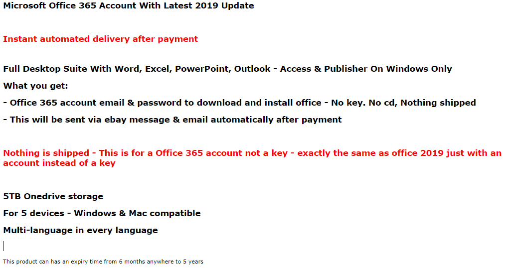 Microsoft Office 2019 Pro Plus Professional License For Windows