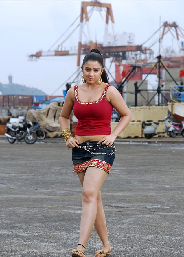 Sexy Charmi Pictures in Hot Mini Skirt - Sexy Actress Pictures | Hot Actress Pictures - ActressSnaps.com