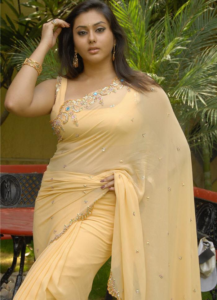 Namitha Feminine Photoshoot in Yellow Saree - Sexy Actress Pictures | Hot Actress Pictures