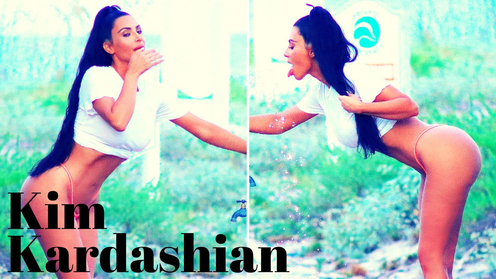Hot Kim Kardashian Bikini show in Miami Beach - Sexy Actress Pictures | Hot Actress Pictures - ActressSnaps.com