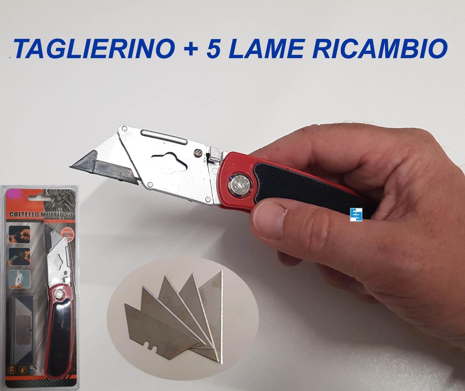 TAGLIERINO CUTTER DA LAVORO PROFESSIONALE  CON 5 LAME DI RICAMBIO RICHIUDIBILE