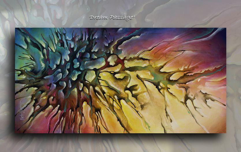 Abstract Painting 3d Fluid Art Decor Modern Mix Lang Certified Original Unique Ebay