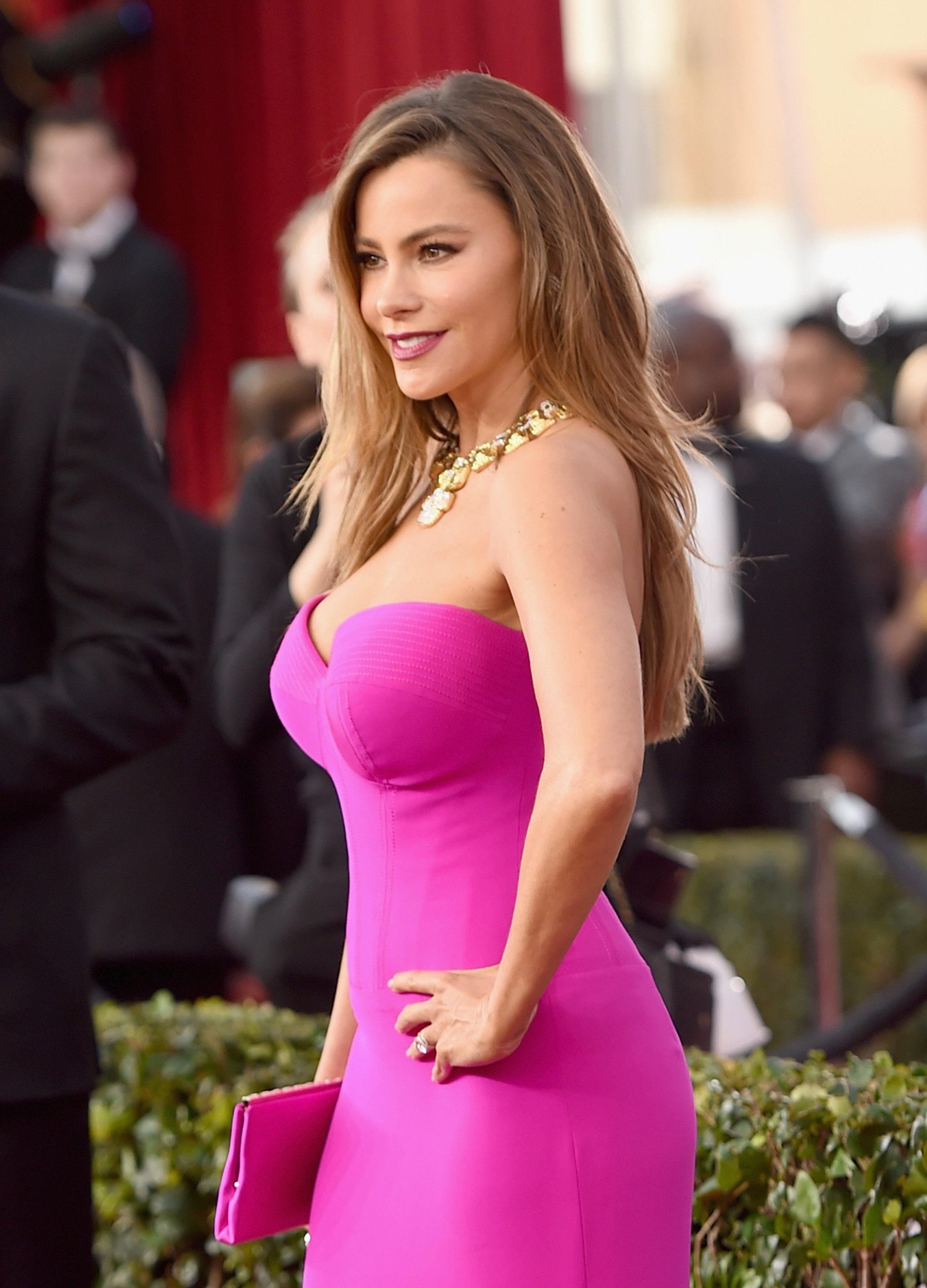 Sexy Sofia Vergara Pictures in a Pink Gown - Sexy Actress Pictures | Hot Actress Pictures - ActressSnaps.com