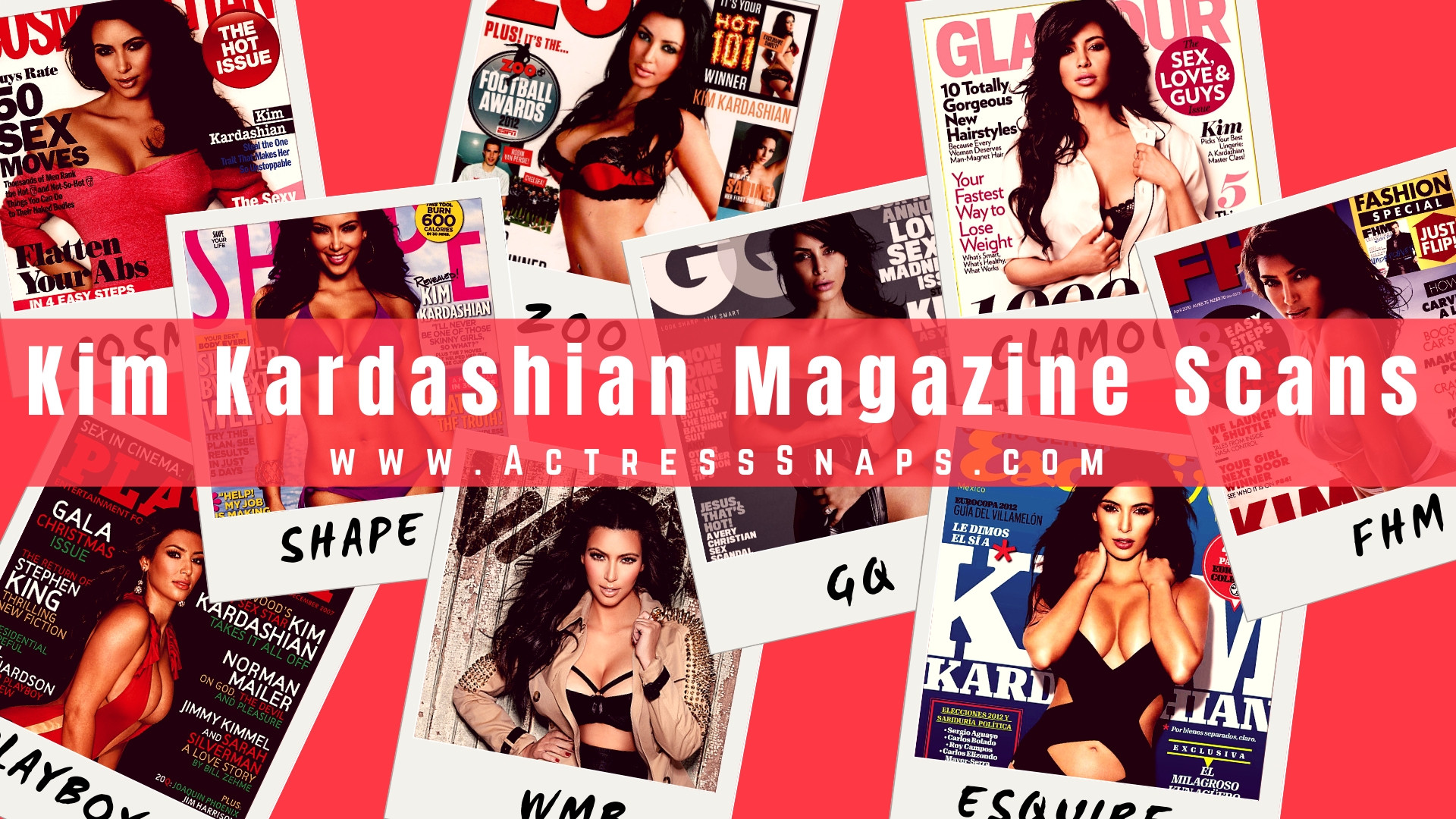 Kim Kardashian - Sexy Magazine Collection - Sexy Actress Pictures | Hot Actress Pictures - ActressSnaps.com
