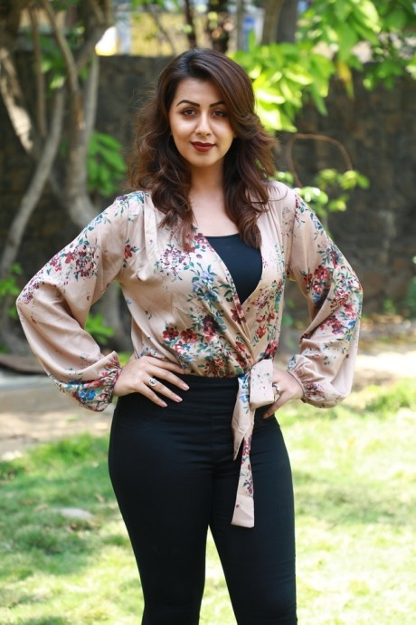 Nikki Galrani Photos at Kalakalappu Movie Photocall - Sexy Actress Pictures | Hot Actress Pictures - ActressSnaps.com