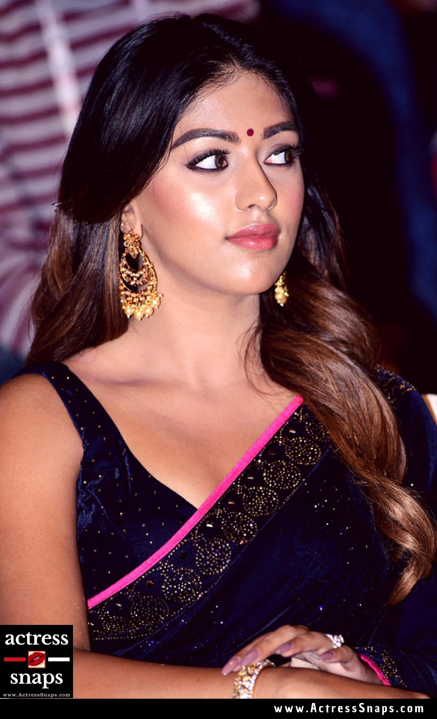 Sexy Anu Emmanuel in Dark Blue Saree Photos - Sexy Actress Pictures | Hot Actress Pictures - ActressSnaps.com