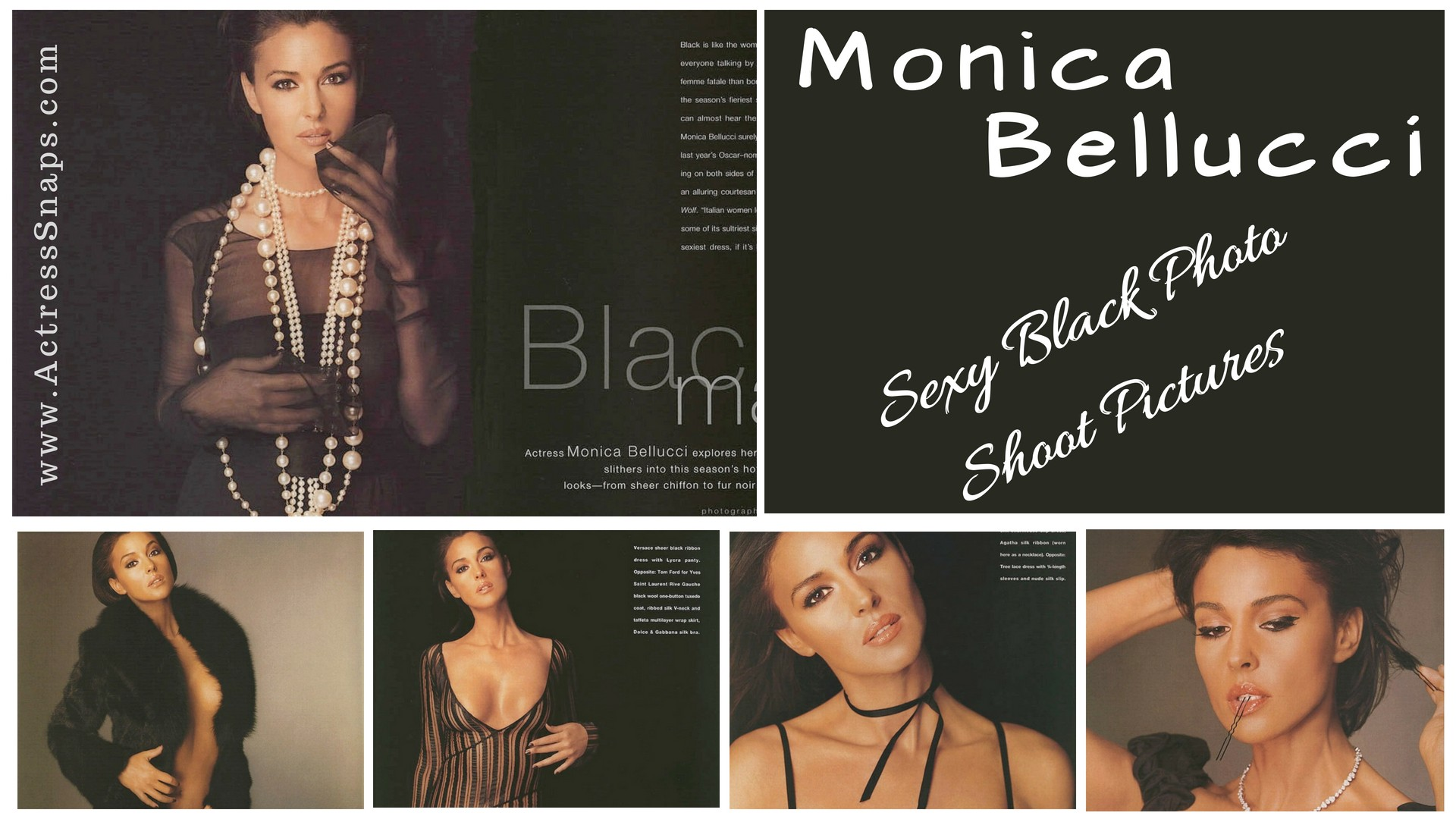 Sexy Monica Bellucci Photo Shoot in Black - Sexy Actress Pictures | Hot Actress Pictures - ActressSnaps.com