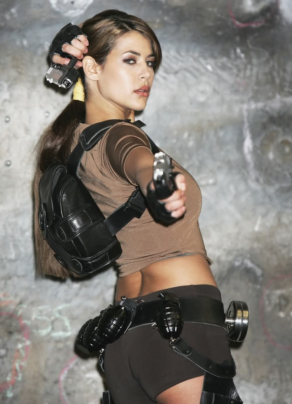 Karima Adebibe - Lara Croft Photo Shoot - Sexy Actress Pictures | Hot Actress Pictures