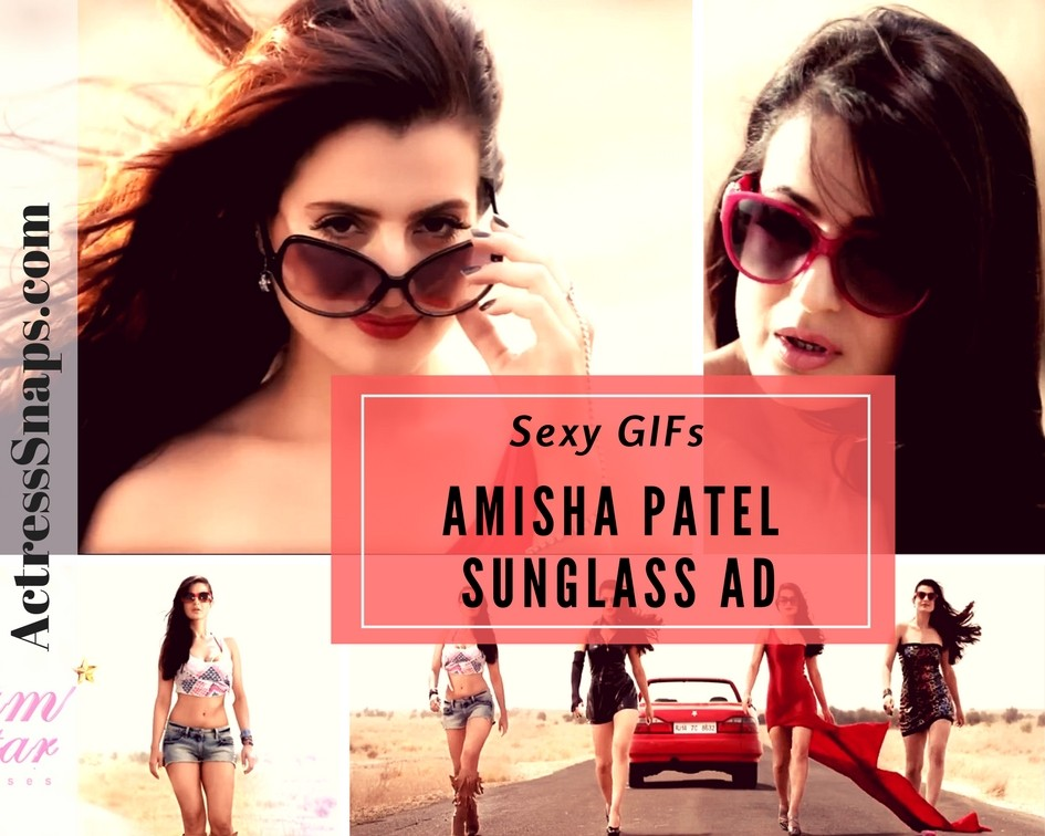 Sexy Amisha Patel Sunglass Ad GIFs - Sexy Actress Pictures | Hot Actress Pictures - ActressSnaps.com