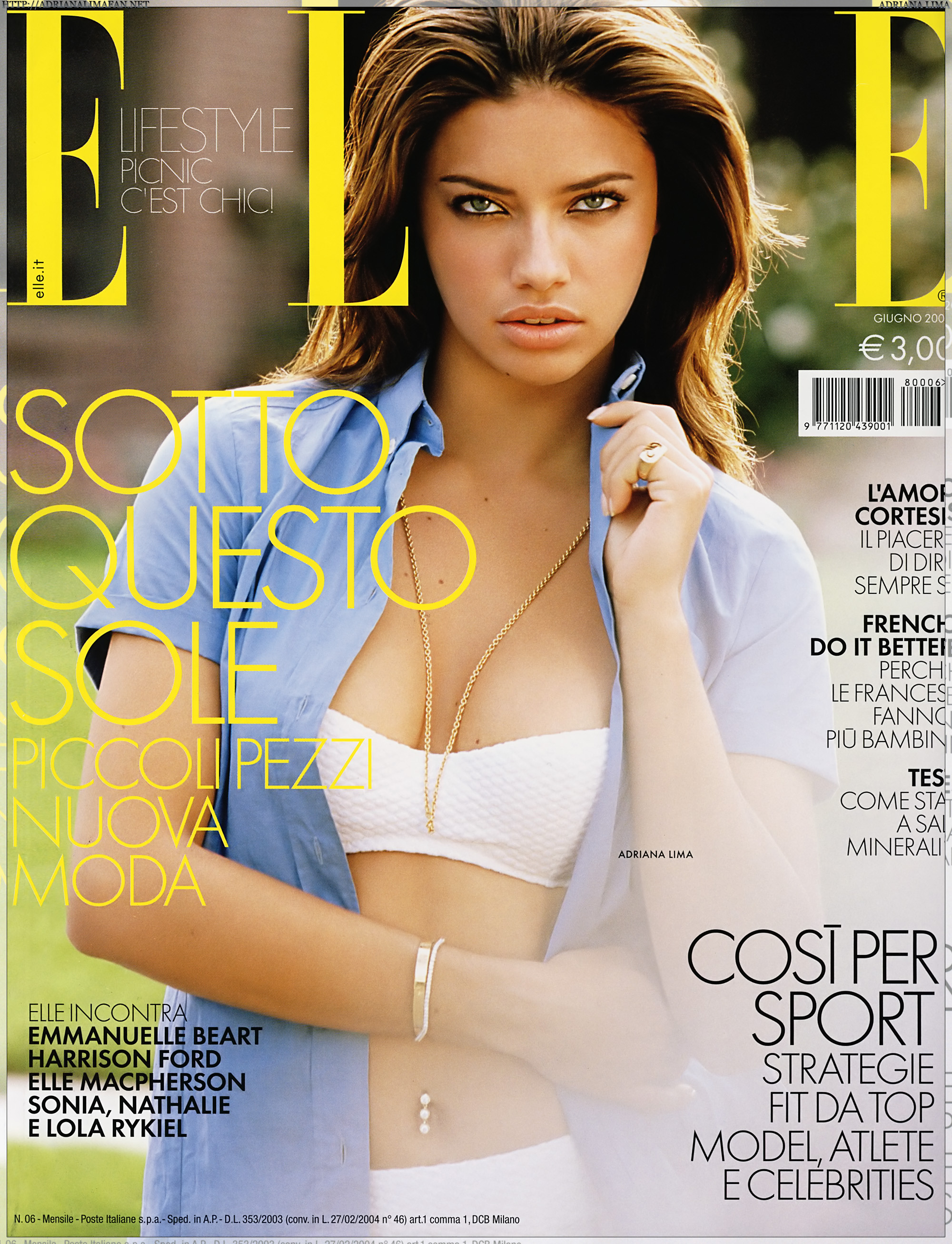 Adriana Lima -  Elle Photoshoot - Sexy Actress Pictures | Hot Actress Pictures