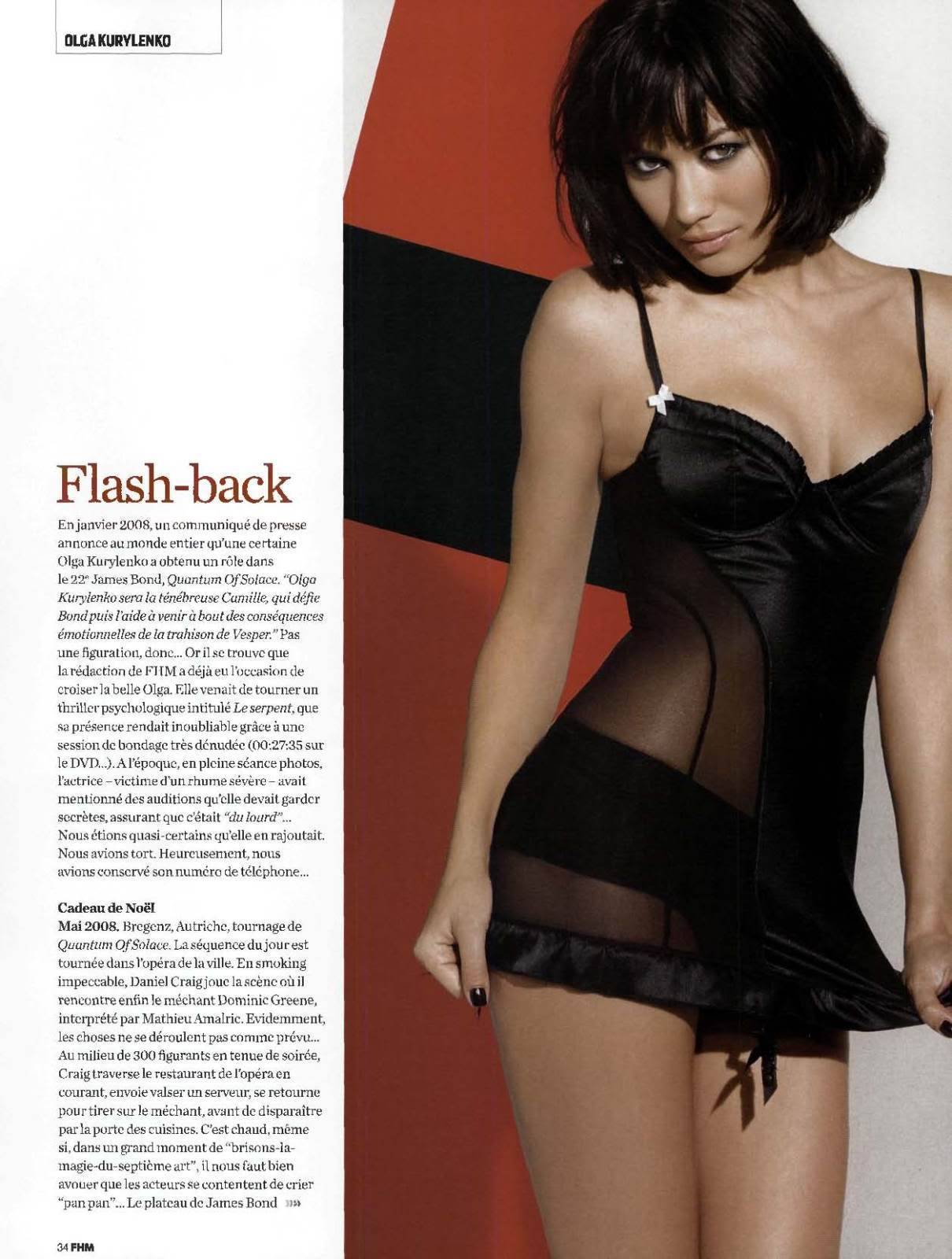 Olga Kurylenko - FHM Scans - Sexy Actress Pictures | Hot Actress Pictures - ActressSnaps.com