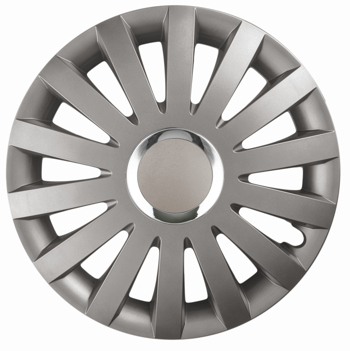silver//graphite Set of 16/'/' Wheel trims hubcaps for Vauxhall Vivaro