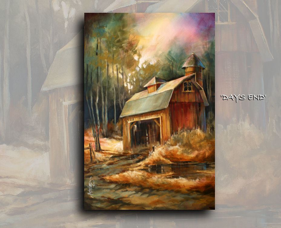 Landscape PAINTING Fall MODERN ART Contemporary Giclee Canvas Print Mike Lang