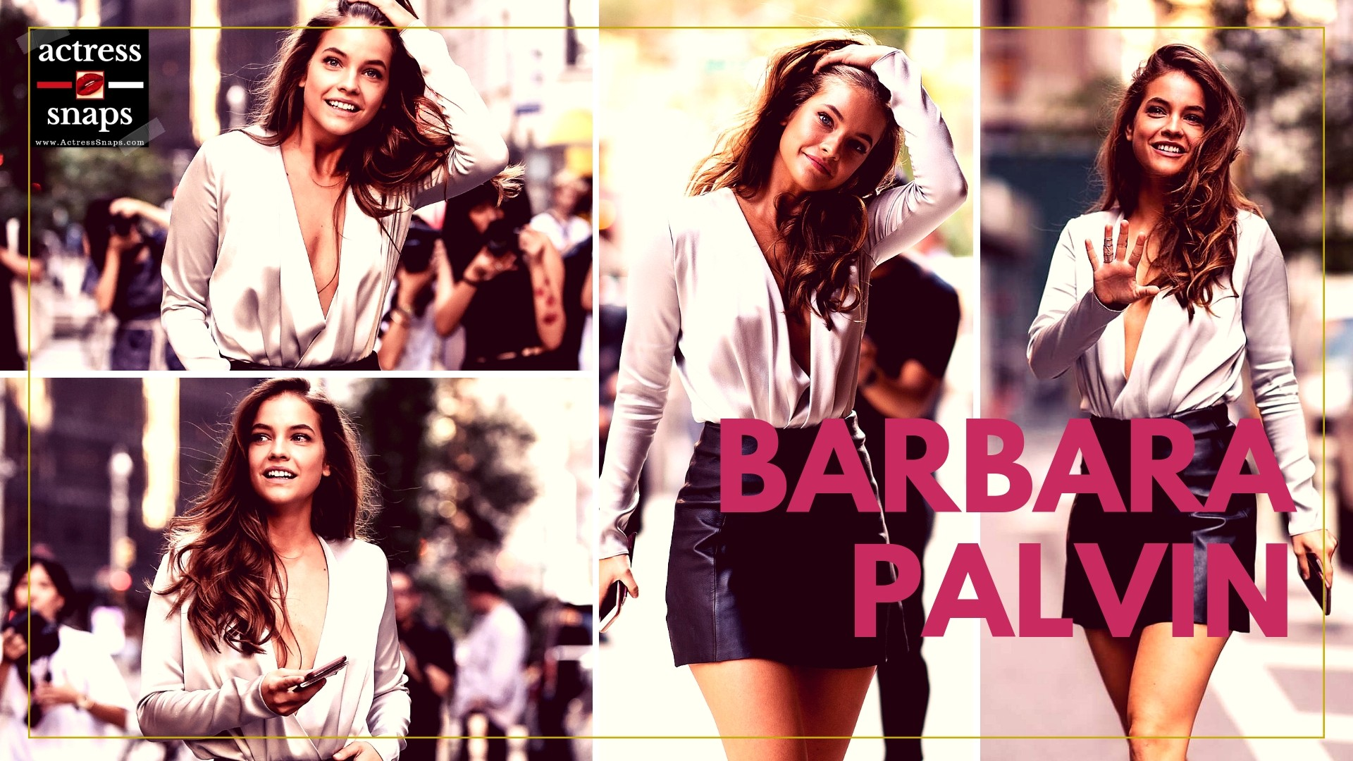 Sexy Barbara Palvin in Sexy Leather Mini Skirt - Sexy Actress Pictures   Hot Actress Pictures - ActressSnaps.com