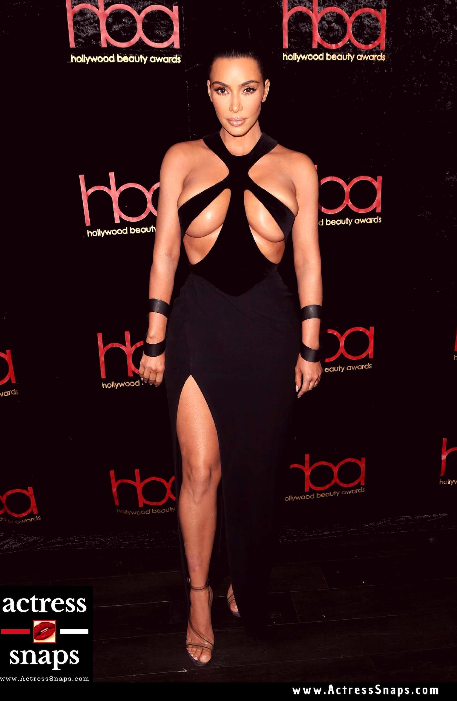 Sexy Kim Kardashian in an Almost Nude Dress - Sexy Actress Pictures | Hot Actress Pictures - ActressSnaps.com