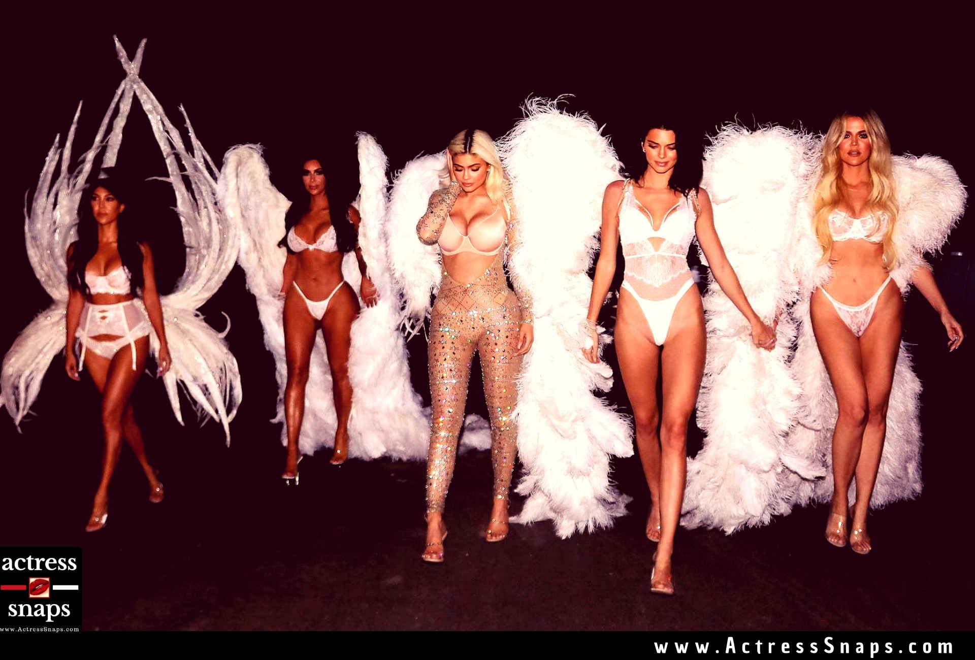 Sexy Kardashian Sisters at Halloween Costume Party - Sexy Actress Pictures | Hot Actress Pictures - ActressSnaps.com