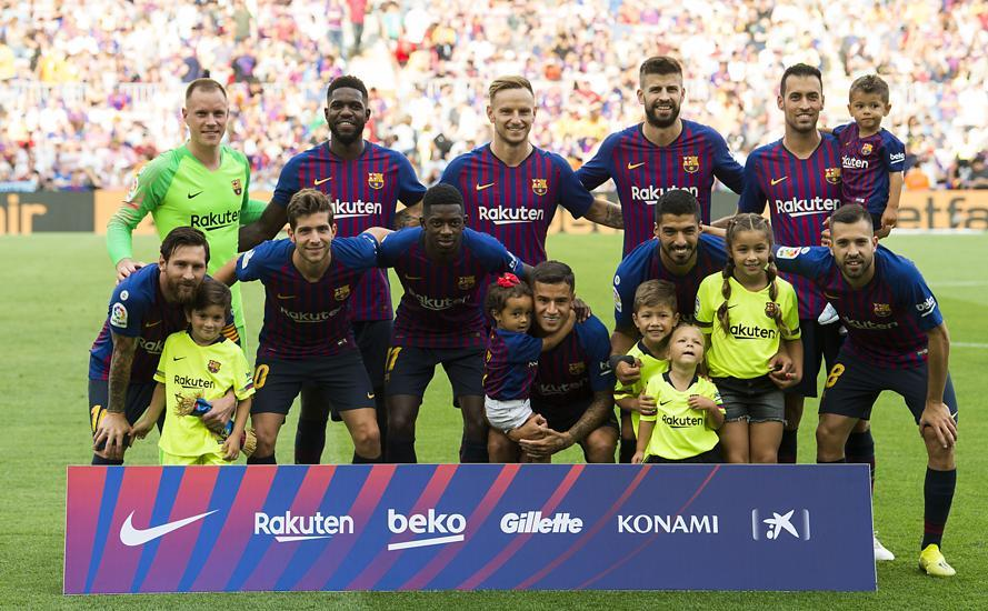 Match day Pictures of FC Barcelona's 8-2 victory against Huesca at Camp Nou