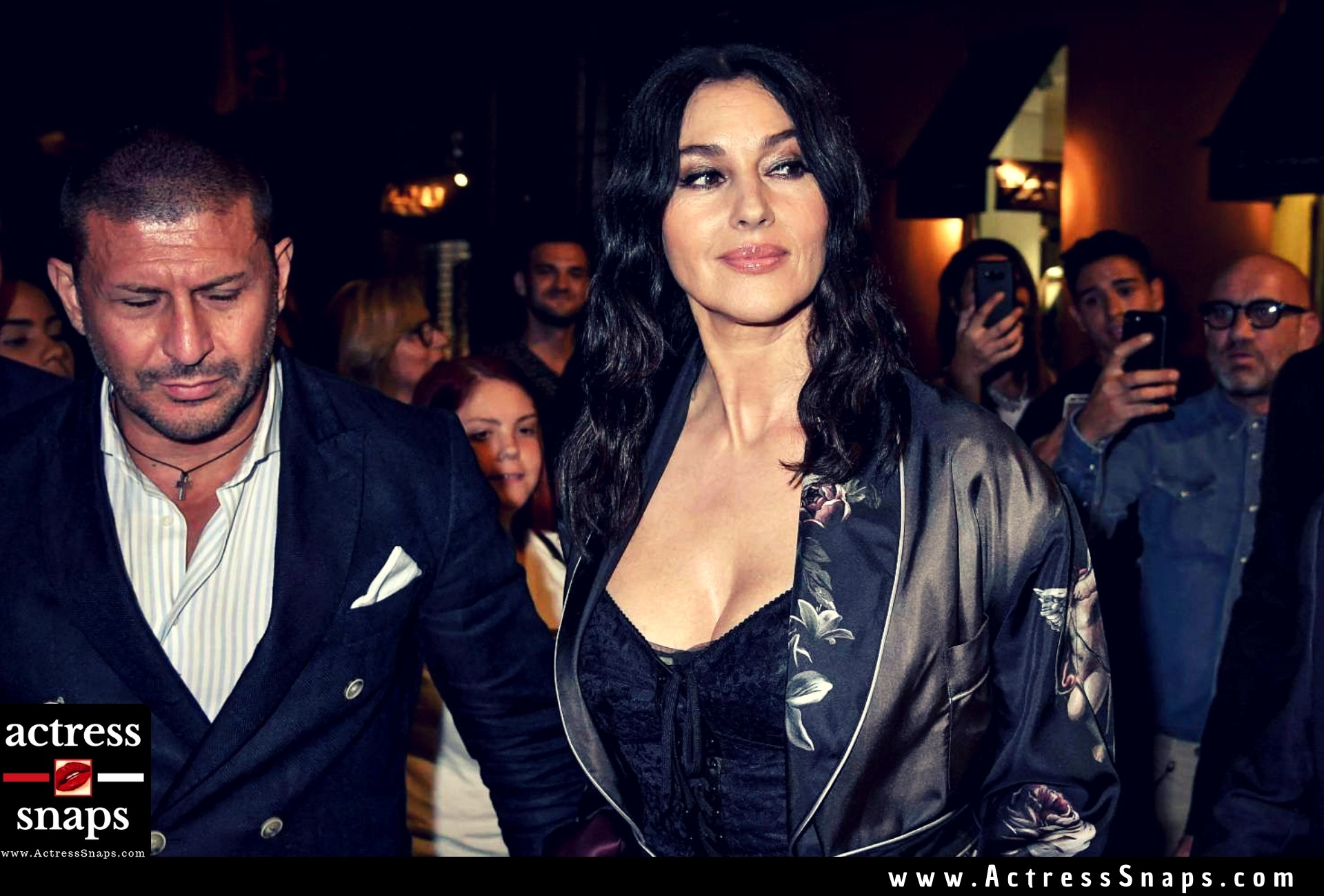 Monica Bellucci at Domenico Dolce Nella Birthday Party - Sexy Actress Pictures | Hot Actress Pictures - ActressSnaps.com