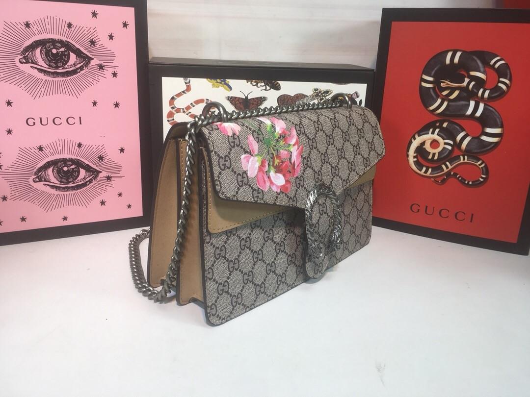 Túi Xách Gucci Dionysus màu nâu có bông hoa size 28cm