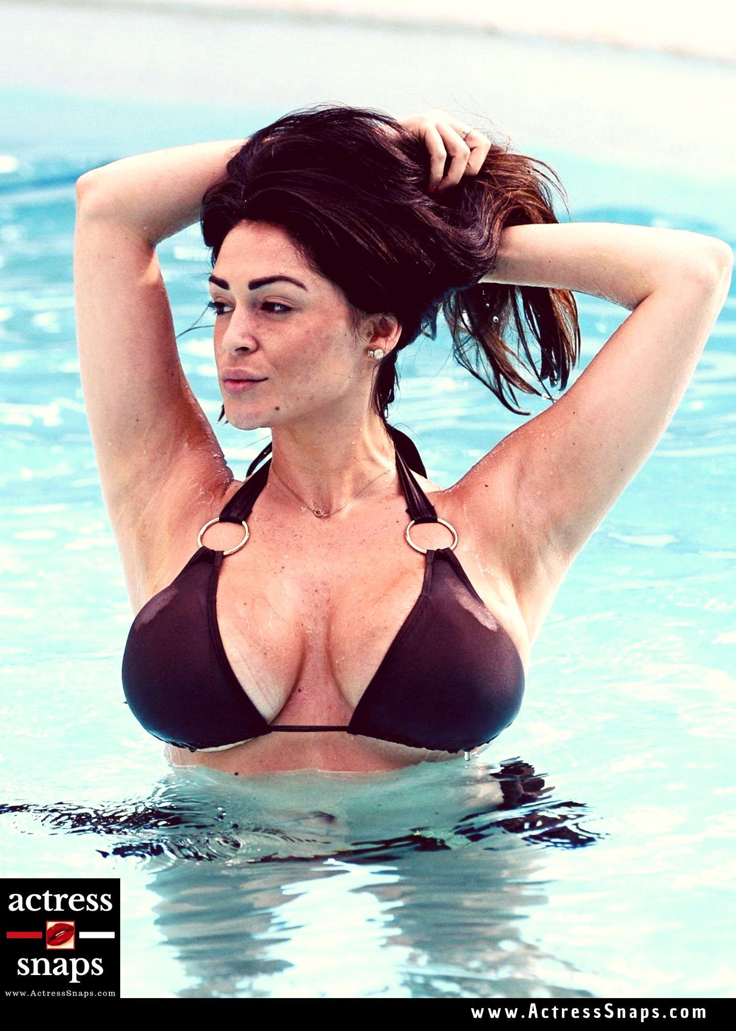Sexy Casey Batchelor in Brown Bikini  - Sexy Actress Pictures | Hot Actress Pictures - ActressSnaps.com