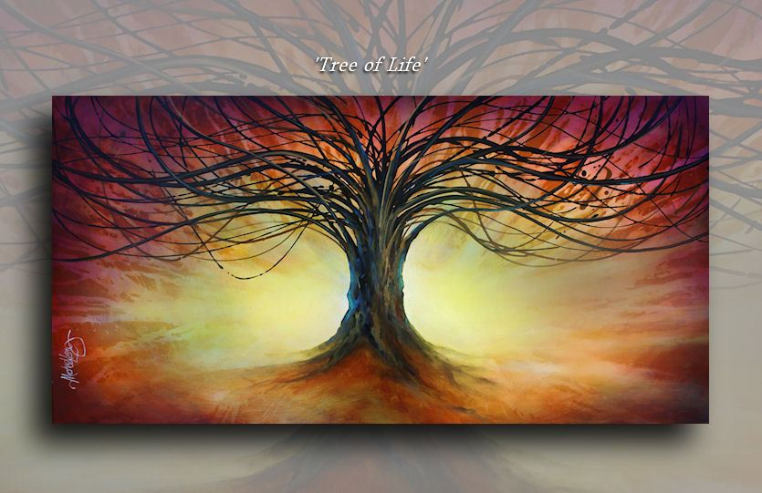 Details About Art Tree Of Life Contemporary Giclee Canvas Print A Mix Lang Landscape Painting