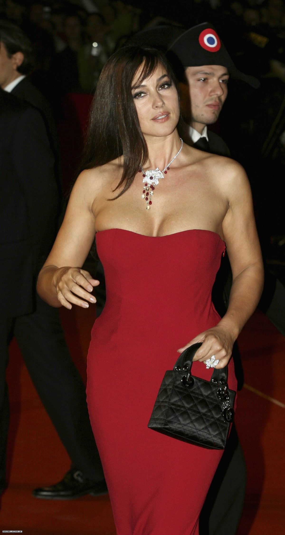 Sexy Monica Bellucci in Red Dress - Sexy Actress Pictures | Hot Actress Pictures - ActressSnaps.com