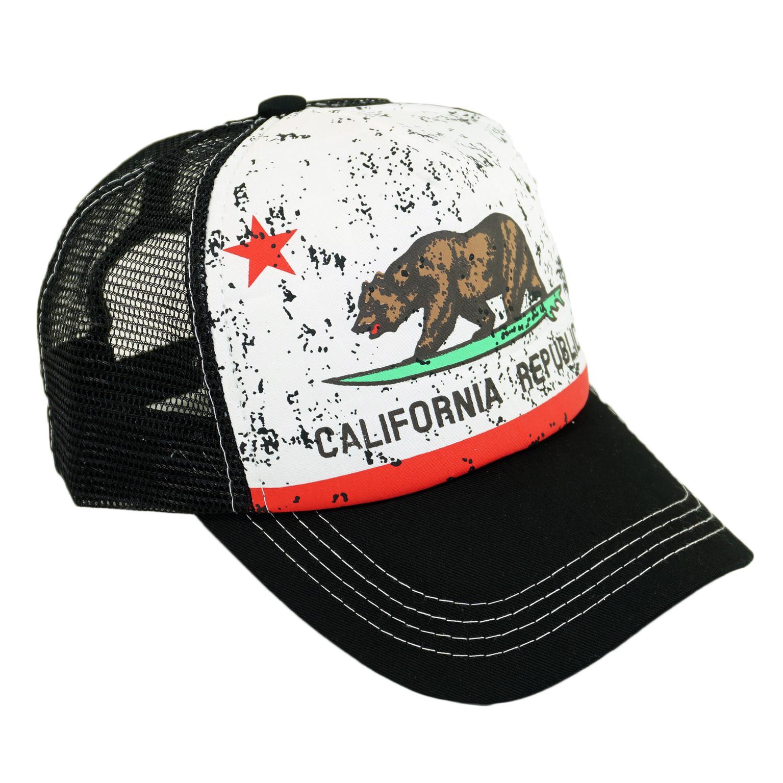 935b7c4d7488d California Republic Printed Mesh Hat Summer Beach Baseball Cap