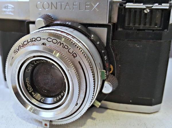 c1956 ZEISS IKON CONTAFLEX IV 35mm CAMERA Tessar 2 8 50mm