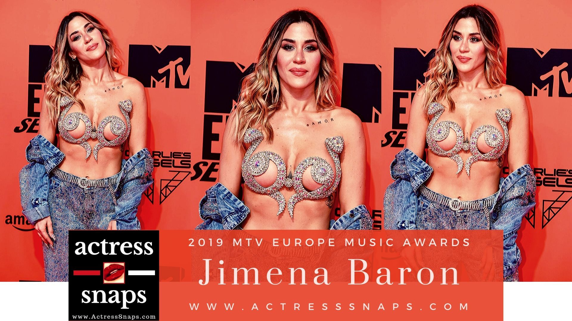 Jimena Baron  - 2019 MTV Europe Music Awards - Sexy Actress Pictures | Hot Actress Pictures - ActressSnaps.com