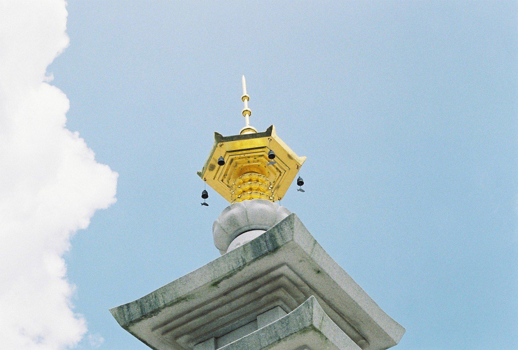 어느 석탑 꼭대기
