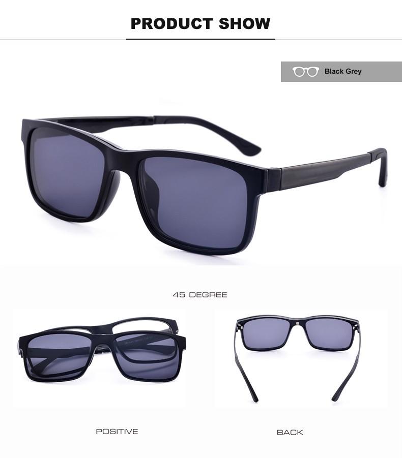 070241deb Liyue  7016 Armação De Óculos Masculino Magnético Com Óculos De Sol