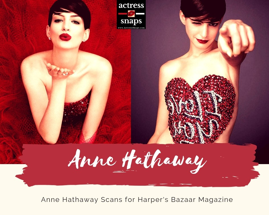 Anne Hathaway - Harper's Bazaar Magazine Photos - Sexy Actress Pictures | Hot Actress Pictures - ActressSnaps.com