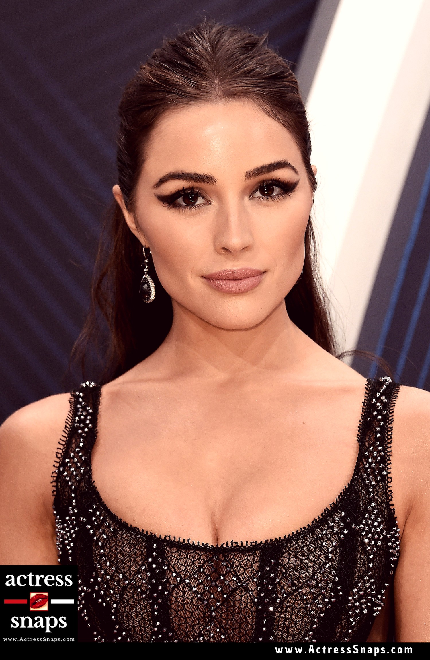 Olivia Culpo looking extremely hot wearing a see through dress at the Annual CMA Awards at Nashville