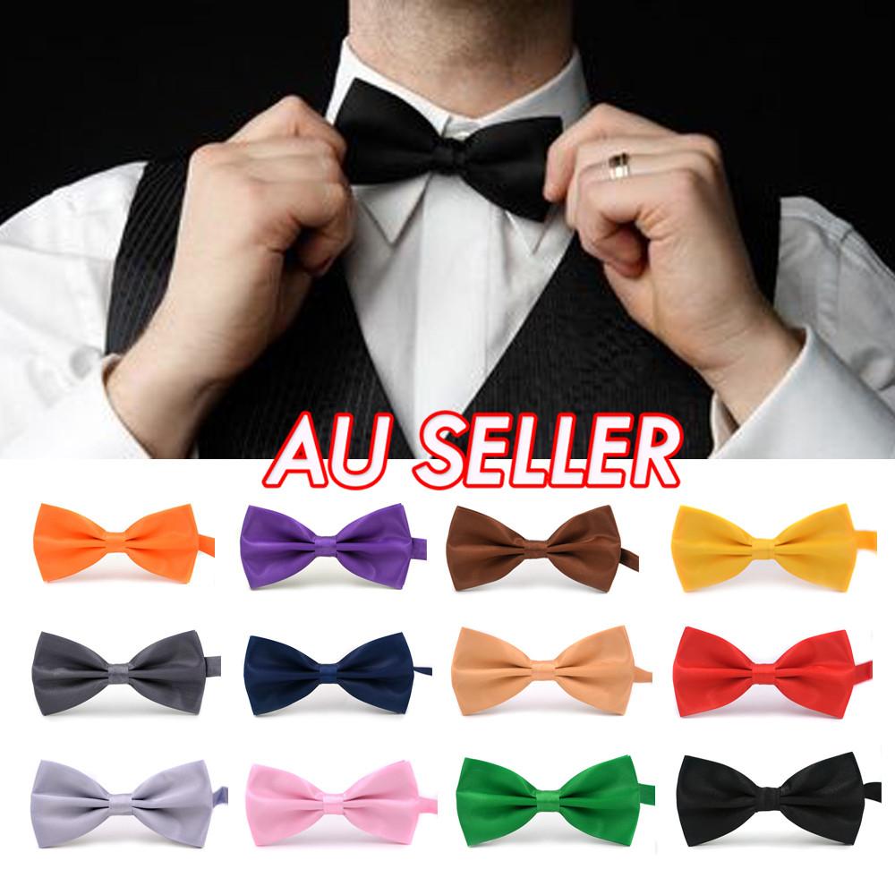 Men Fashion Bowtie Adjustable Multi Color Silk Pre Bow Tie Tuxedo Necktie Ties