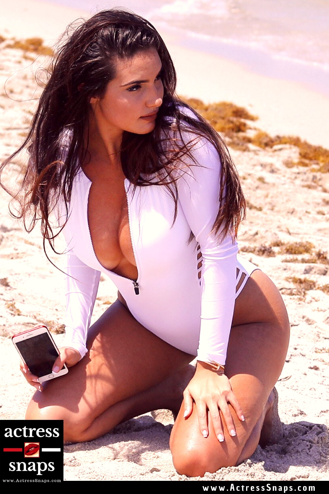 Tao Wickrath - Sexy in White Swimsuit - Sexy Actress Pictures | Hot Actress Pictures - ActressSnaps.com